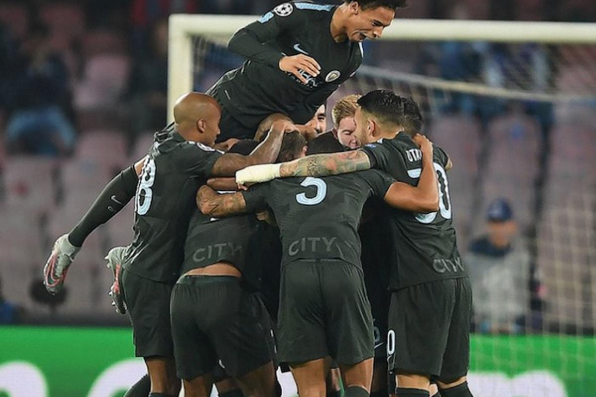 Il Napoli ancora sconfitto dal City è ad un passo dall'eliminazione in Champions League