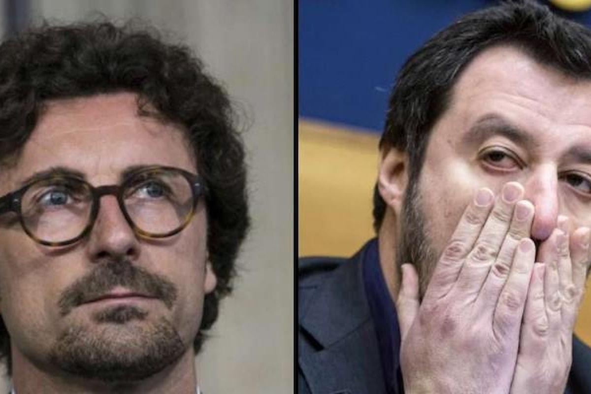 Toninelli in futuro continuerà a sopportare le invasioni di campo di Salvini?