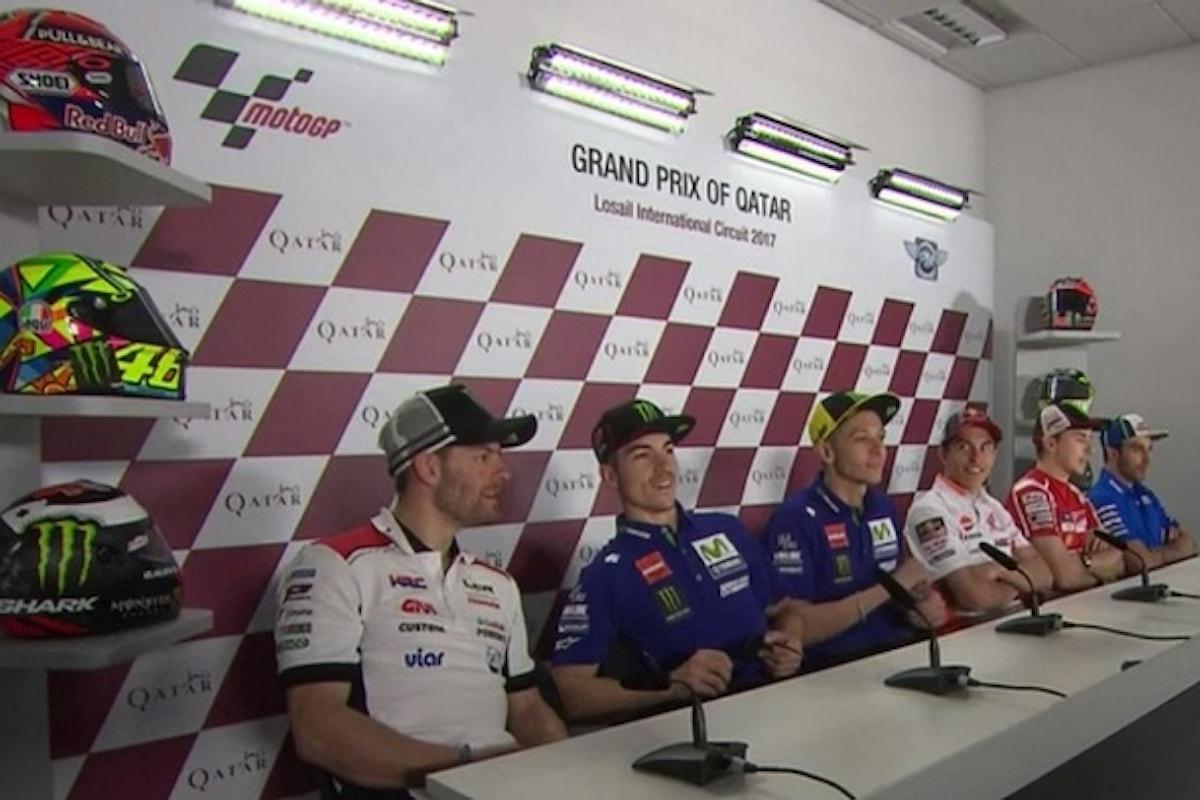 Conferenza stampa piloti MotoGP: le parole di Rossi, Lorenzo, Marquez, Vinales, Iannone e Crutchlow