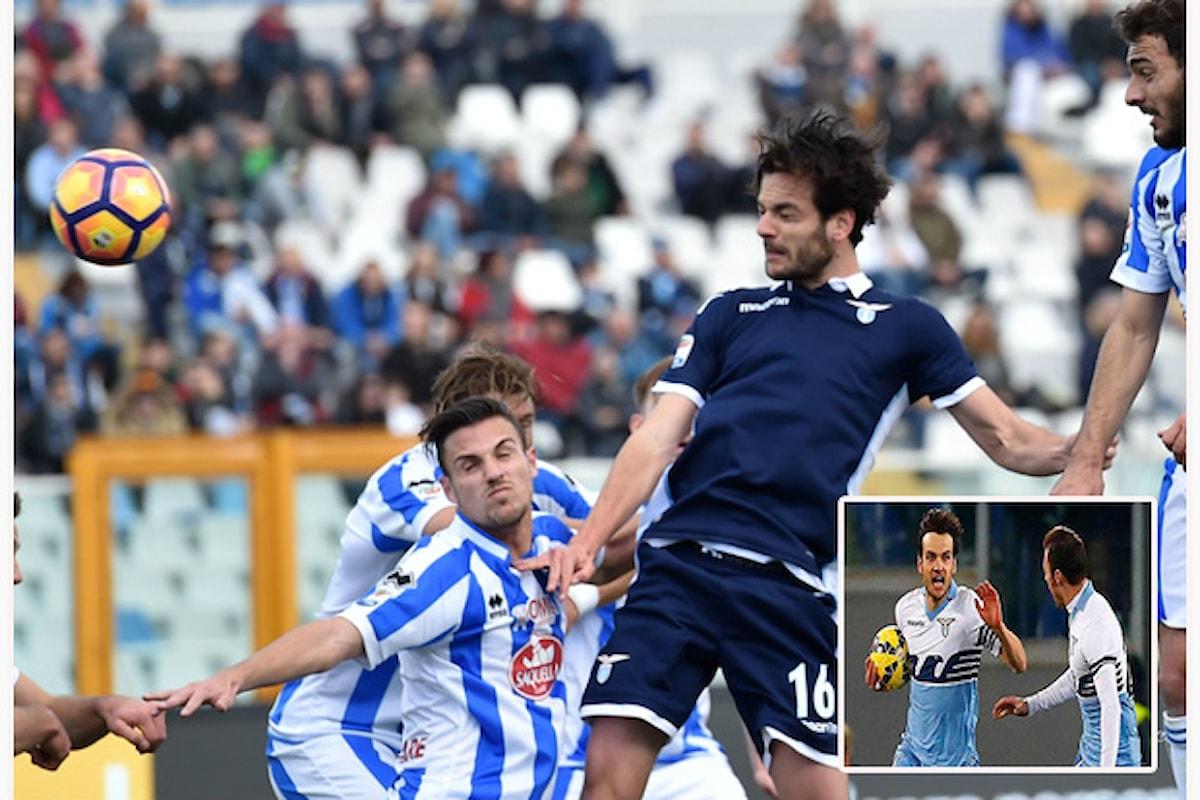 Serie A TIM. Pescara - Lazio 2 : 6. Parolo, soltanto Parolo!