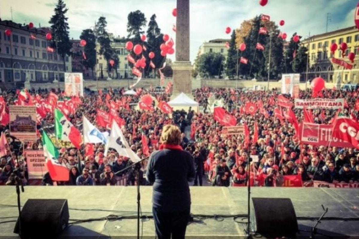 2 dicembre, la Cgil in piazza chiede al Governo nuovi provvedimenti su pensioni, sviluppo e occupazione