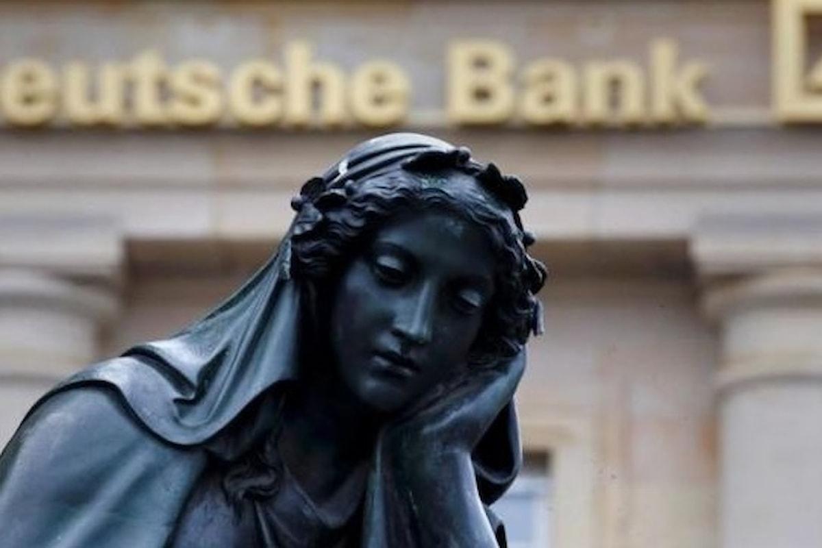 Tonfo record delle azioni della Deutsche Bank. Per la prima volta sotto i 10 euro