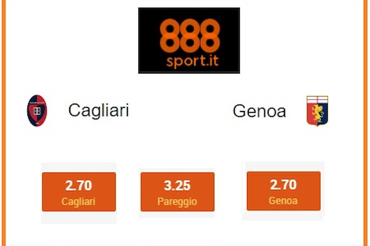 Serie A: Cagliari-Genoa, al Sant'Elia vince il Goal