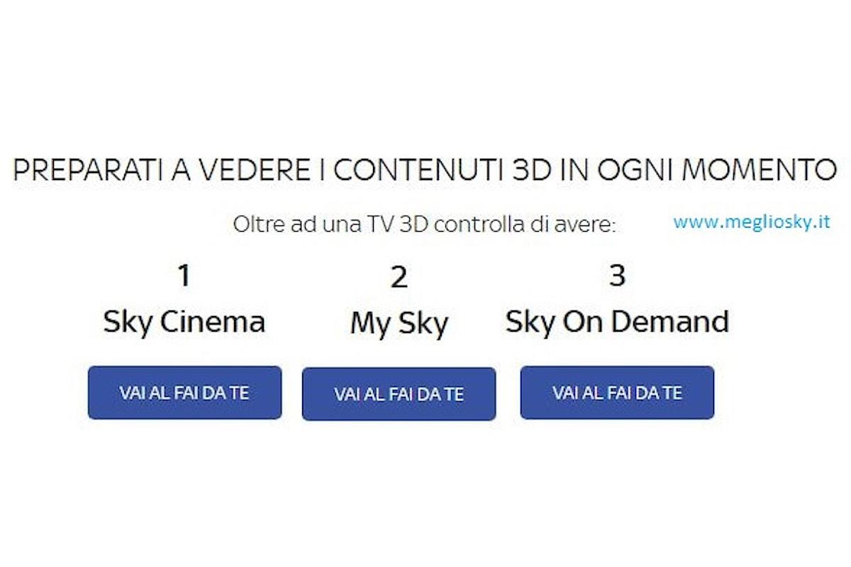 Sky 3D chiude, resta il cinema 3D on demand per gli abbonati Sky Cinema