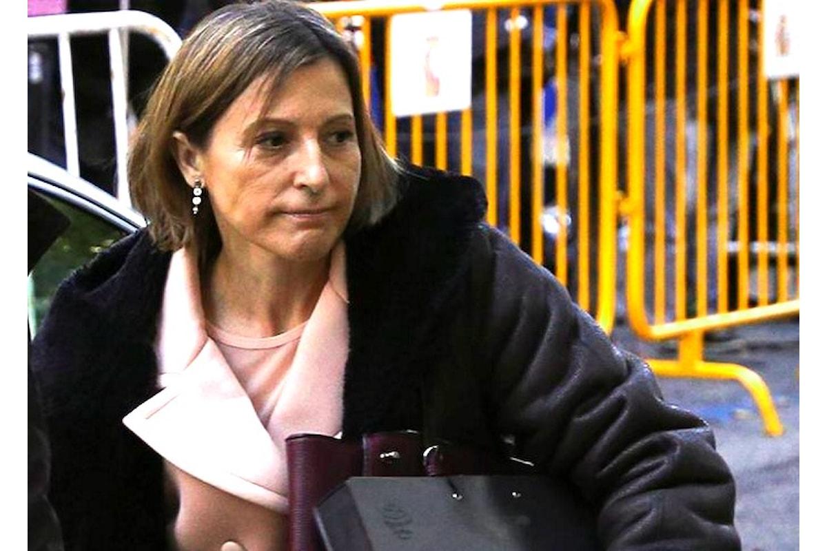 Arrestata ieri, Carme Forcadell paga la cauzione di 150mila euro e lascia il carcere di Alcalá Meco