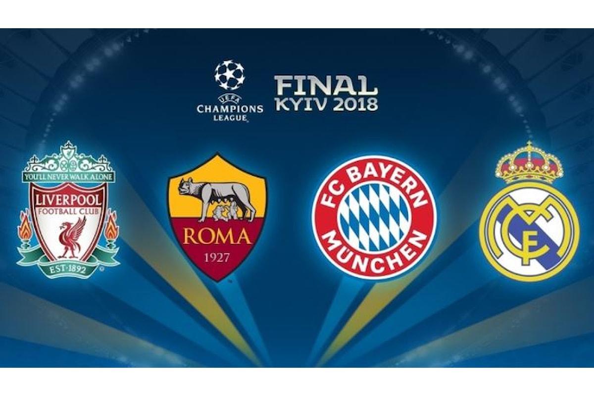 Semifinali di Champions League, la Roma se la vedrà con il Liverpool