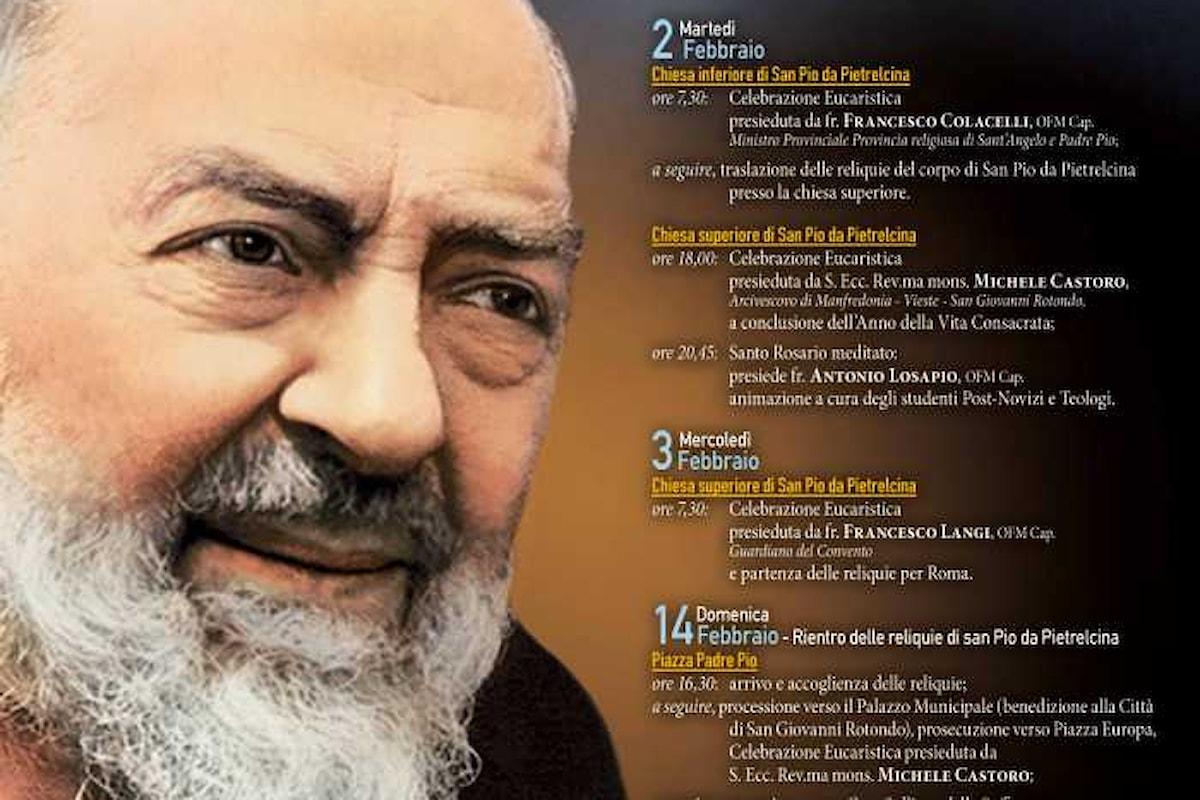 Traslazione delle reliquie di Padre Pio. Il programma completo in Puglia